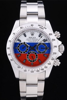 Rolex Oyster Perpetual rl336 Platinum Starp White Blue And Red Plate