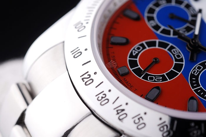Rolex Oyster Perpetual rl336 Platinum Strap White Blue And Red Plate