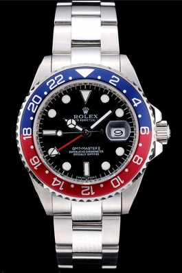 Rolex GMT Master II Blue-red Ceramic Bezel Black Dial Tachymeter