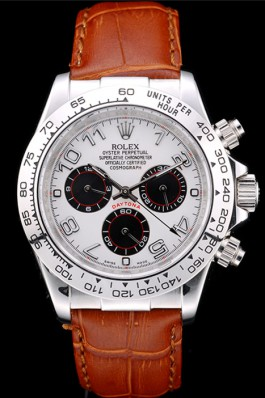 Rolex Daytona 085A Brown Leather Strap