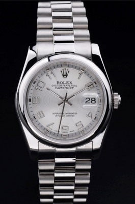 Rolex Datejust Classic silver restrictions 4785