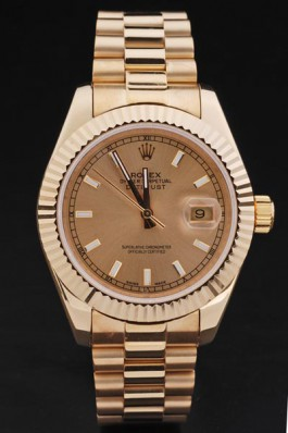 18K Rolex Datejust All Gold Sale 4761