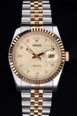 18K Rolex Datejust 4751 Silver Gold Band