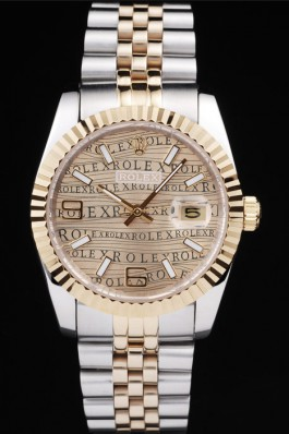 Rolex DateJust Letters light brown dial 4729