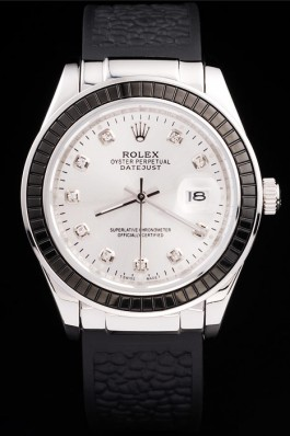 Rolex Datejust Black crocodile strap 4673