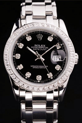 Best Swiss Rolex Datejust Crystal-studded polished stainless steel 4775