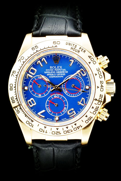 Best Swiss Replica Rolex Daytona Yellow Gold Plated 4839