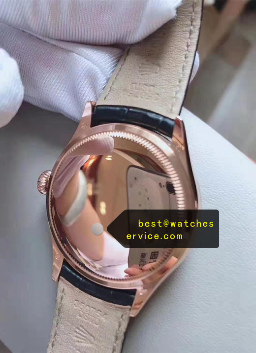 39MM 18k-Rose-Gold Fake Rolex Cellini m50505-0009 Watch