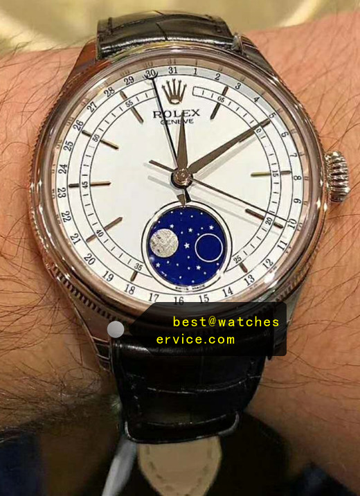 Moon Phase Replica Rolex Cellini m50535-0002 Watch