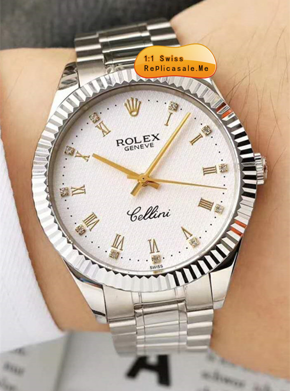 Rolex Cellini White Gold With 18k-Gold Pointer 11WG