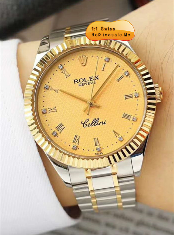 Latest Rolex Cellini Champagne Gold Face With 39mm Diameter 0815U
