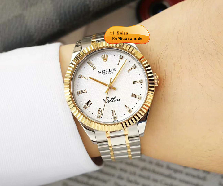 Rolex Cellini White Face With 18k Gold FG12