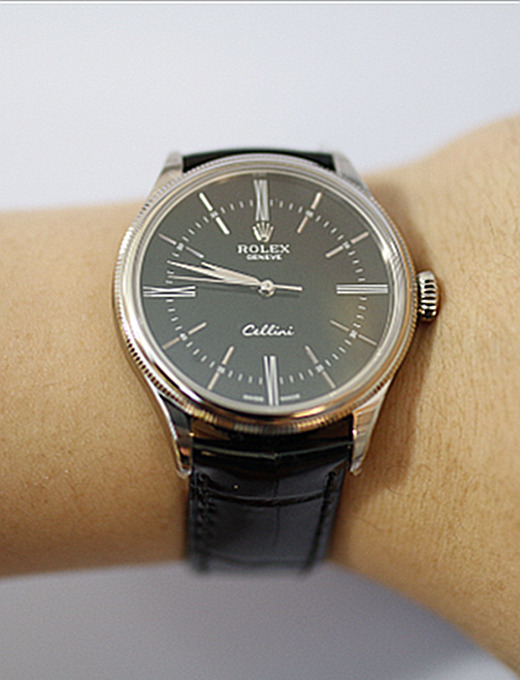 Rolex Cellini Series 50509 Watch Black Plate
