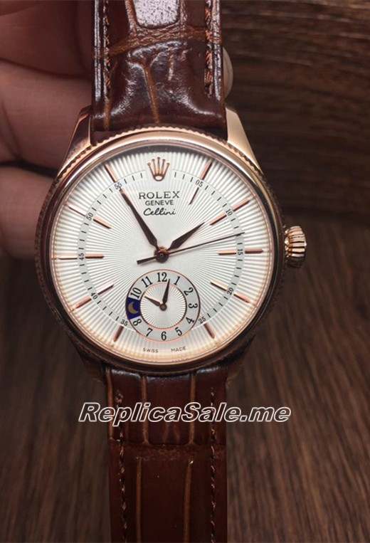 Luxury Rolex Cellini 50525 watch white plate