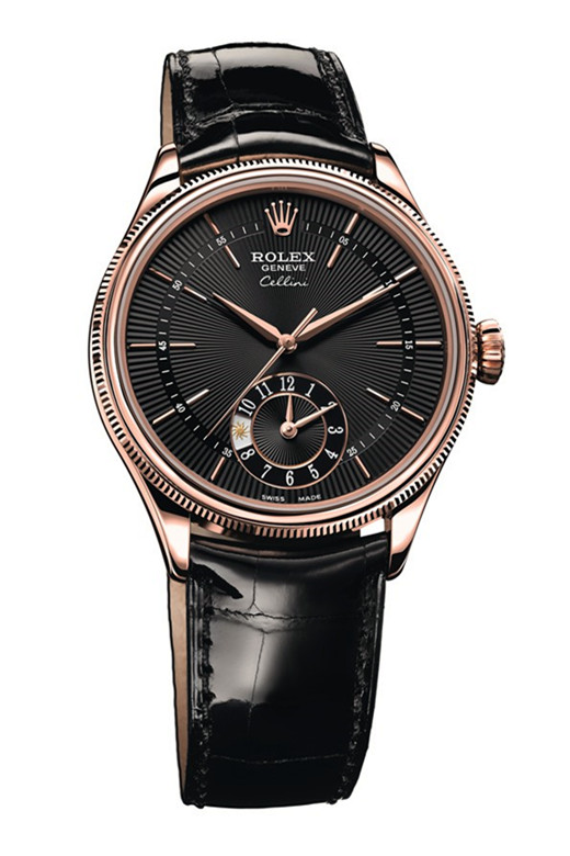 Luxury Rolex Cellini 50525 Watch Black Plate