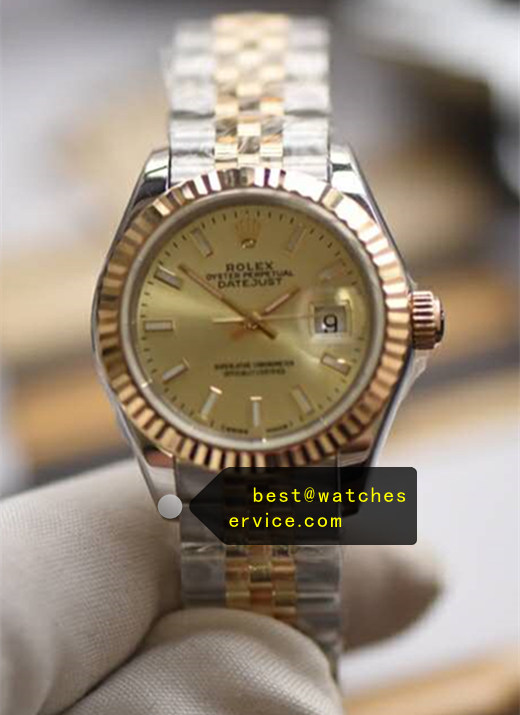 26mm Champagne Lady Replica Rolex Datejust 179173 Watch