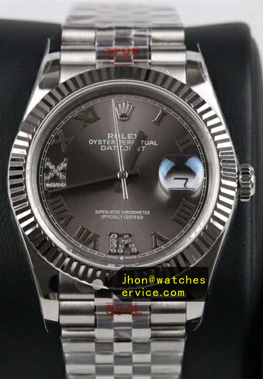 36mm Fake Rolex Datejust Gray m126233