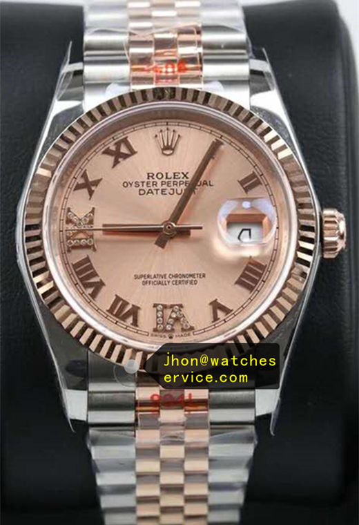 36mm Fake Rolex Datejust m126233 Champagne