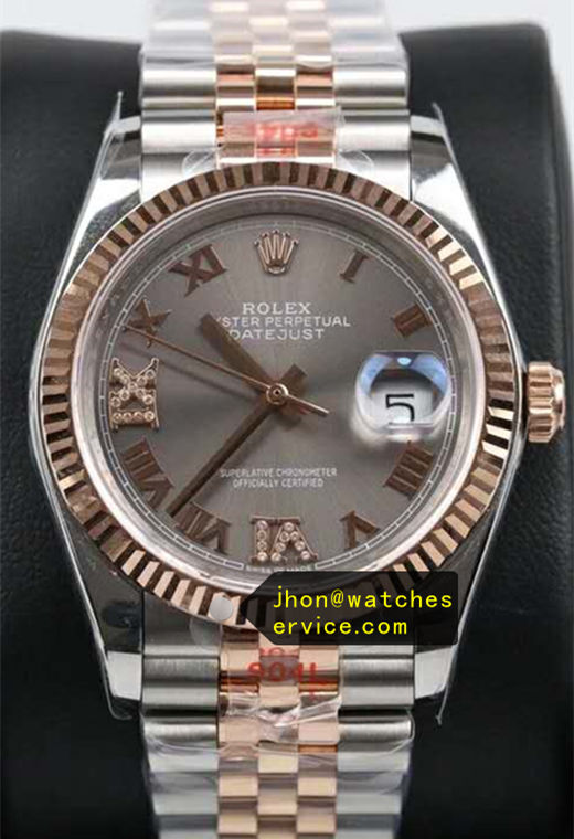 36mm Fake Rolex Datejust m126233 Gray