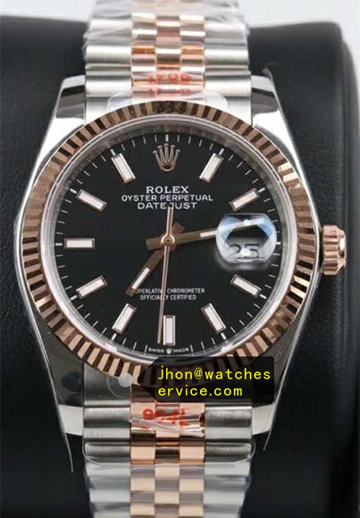 41MM Black Face Fake Datejust m126334 Gold Steel