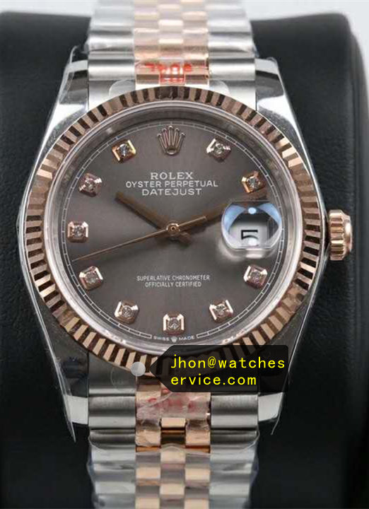 41MM Replica Datejust Grey Diamonds Dial