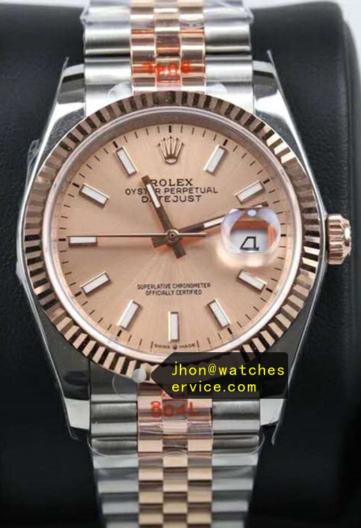 41mm Champagne Face Fake Datejust m126334 Gold Steel