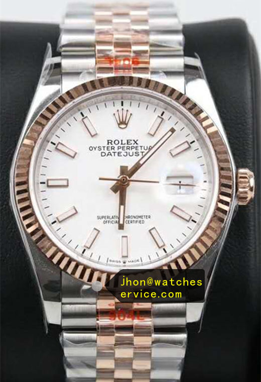 41mm White Face Fake Datejust m126334 Gold Steel