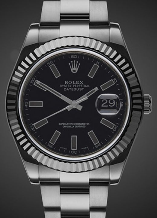 All Black PVD Fake Rolex Datejust 116334 Watch