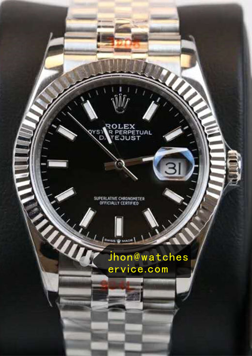 Black Fake Rolex Datejust 41mm m126334-0014