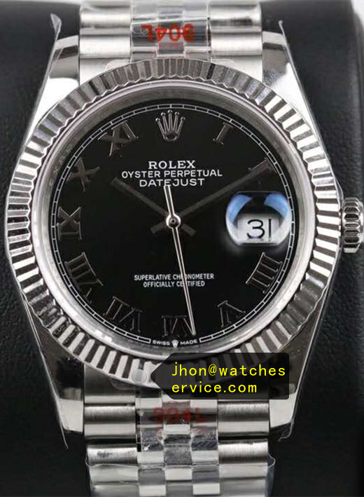 Black Fake Rolex Datejust 41mm m126334-0024
