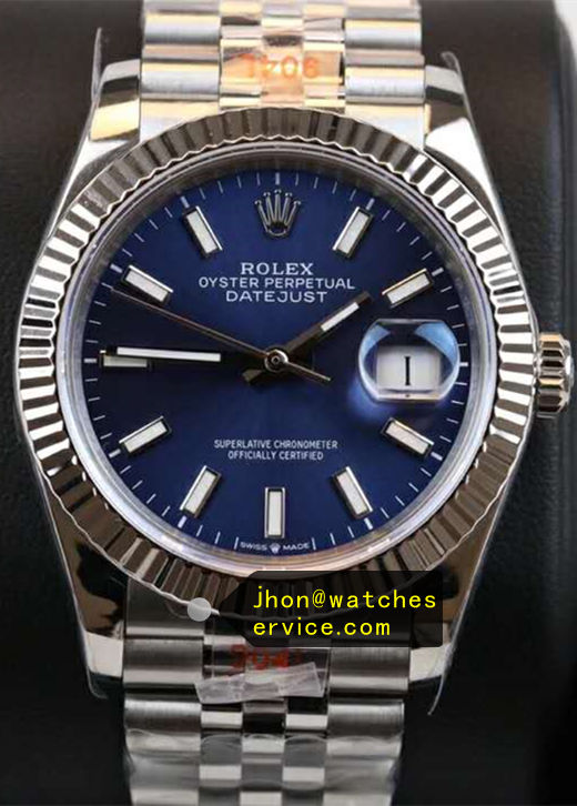 Blue Rolex Datejust Replica 41mm m126334-0002