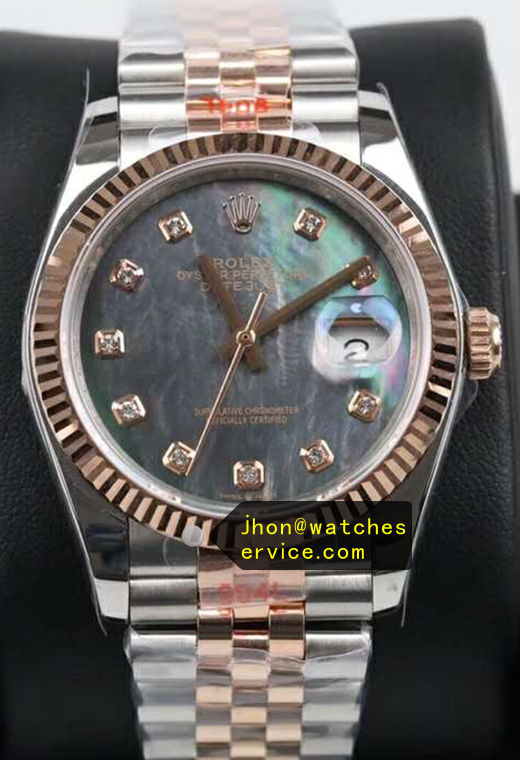 Fake Datejust 36 MM Blue Gradient Dial
