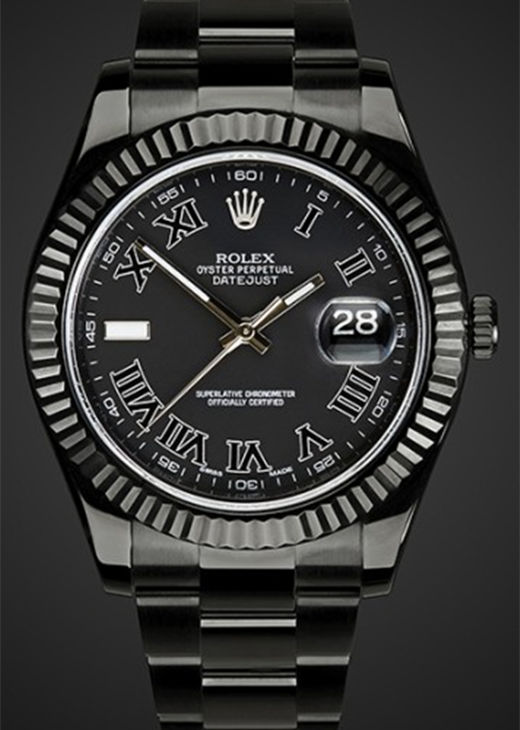 Fake Rolex Datejust 116333 41MM Black PVD
