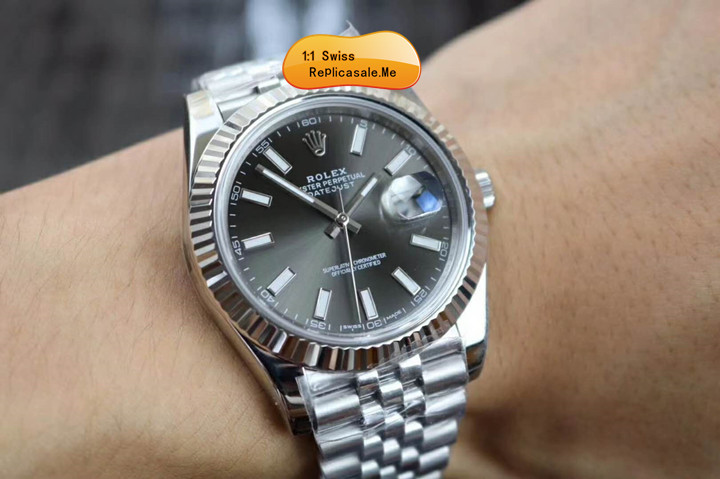 Rolex Datejust 126334 18K Platinum Dark Gray Face 18112A