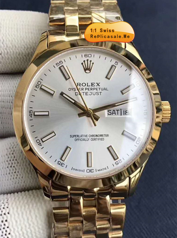 Rolex Datejust White Face Rose Gold Swiss-ETA 55A
