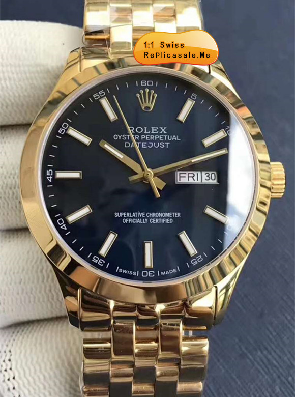 Rolex Datejust Dark Blue Face Rose Gold Body 78T