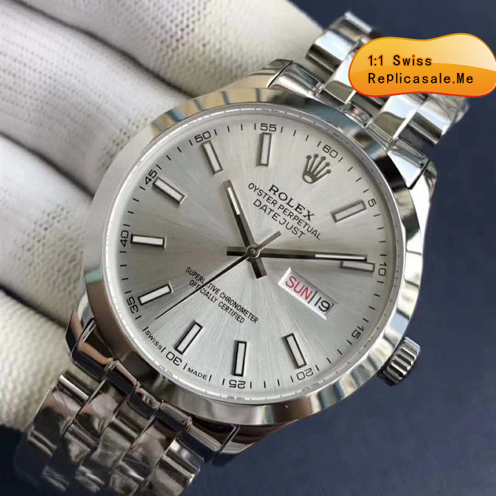 Rolex Datejust Silver Gray Face Using 914L Steel
