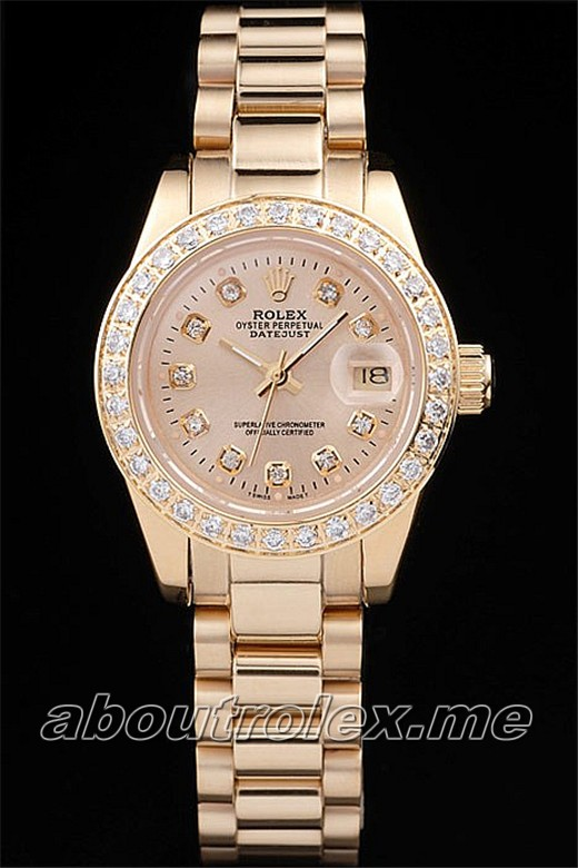 Rolex Datejust Replica 18k yellow gold 65B