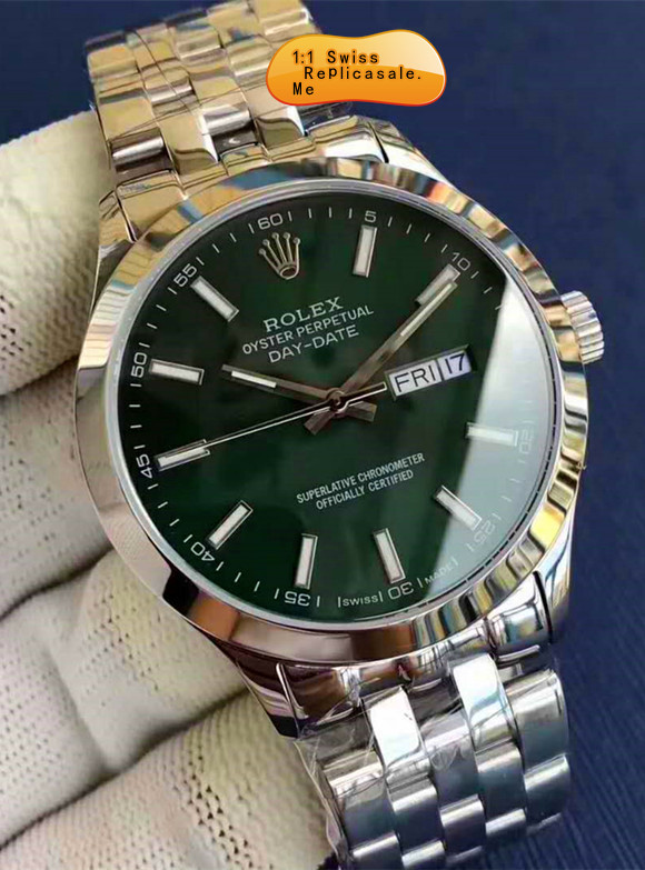 Swiss-ETA Rolex Datejust Green Face Using 914L Steel
