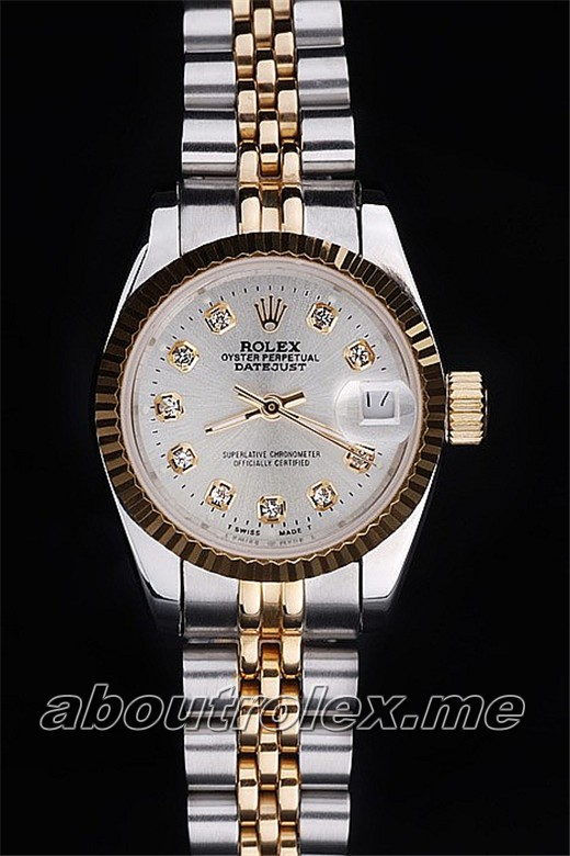 Ladies Rolex Datejust Replica 116233-G-63203 White Plate