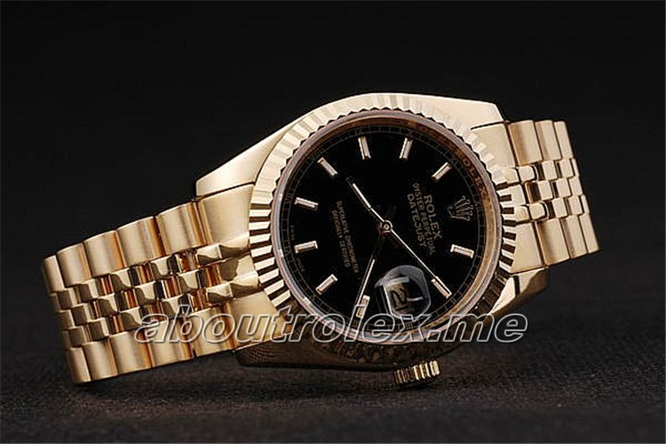 Buy High Quality Rolex Datejust Replica 47061A Black Plate