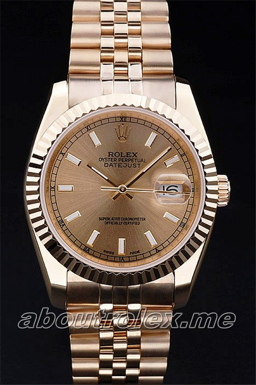 Quality Men's Rolex Datejust Replica 086F Best 18K