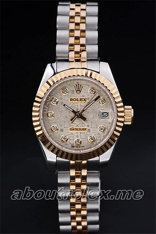 Rolex Datejust Replica 012K Two toned link