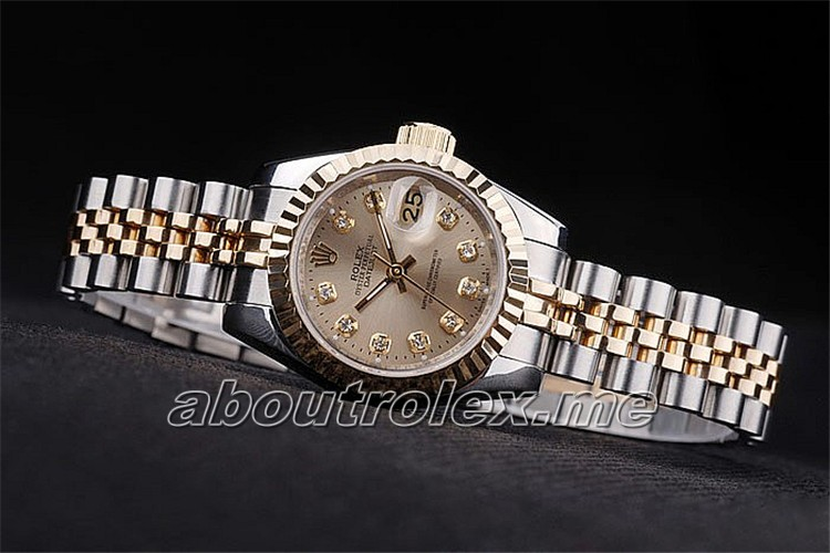 Ladies Rolex Datejust Replica 116233 Champagne Diamond