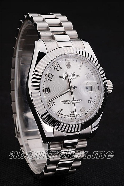 Rolex Datejust Replica 04T Brushed stainless steel crown