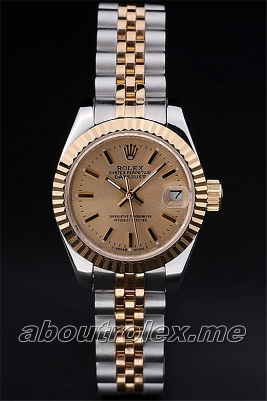 Rolex Datejust Replica 18k yellow gold plated steel 01A