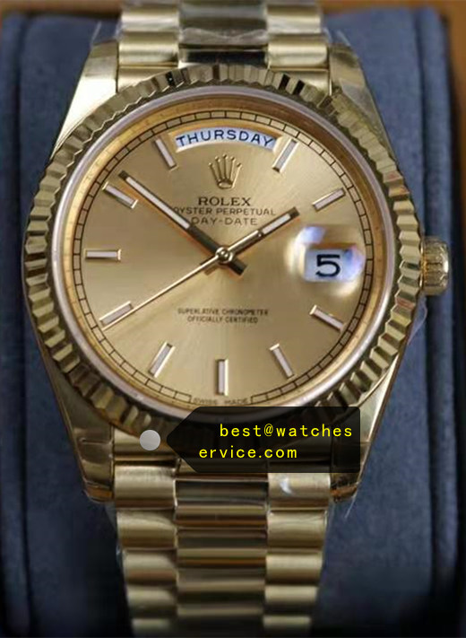 18k-Gold Fake Rolex Day Date m228238-0003 Watch