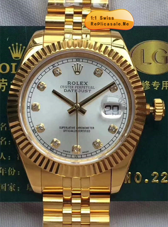 Gold Rolex Daydate White Face Swiss High Quality 0903