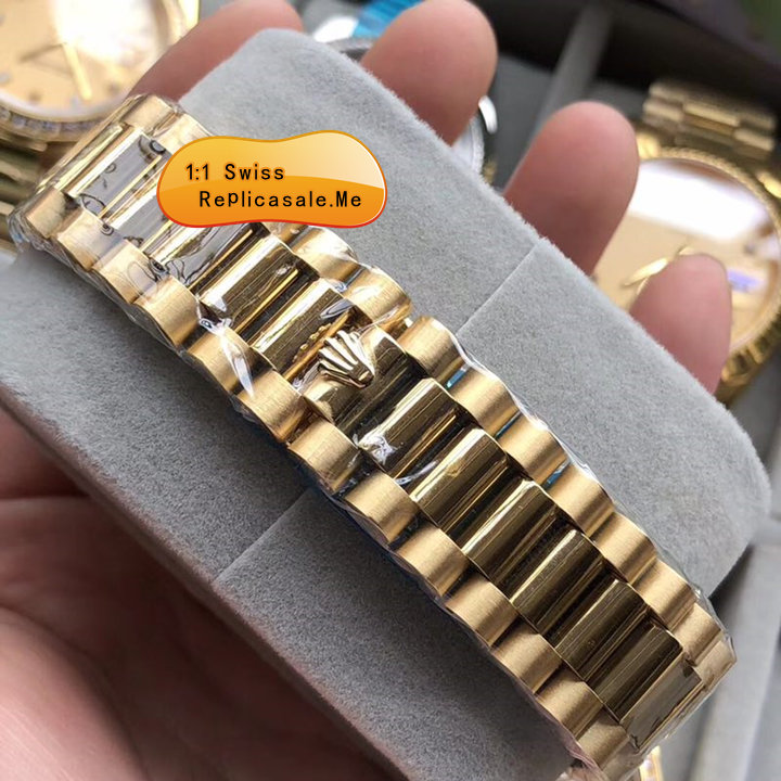 Fake Rolex Daydate 18K Rose Gold Swiss-ETA-7750-058A