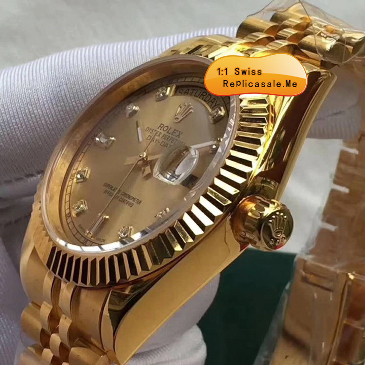 Gold Rolex Daydate Swiss High Quality 0903